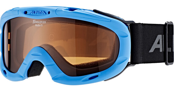 Alpina Ruby S Singleflex Hicon S1 Goggle Kids blue